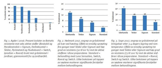 Fig 1 til 3 i fungicidresistens hos graaskimmelsopp